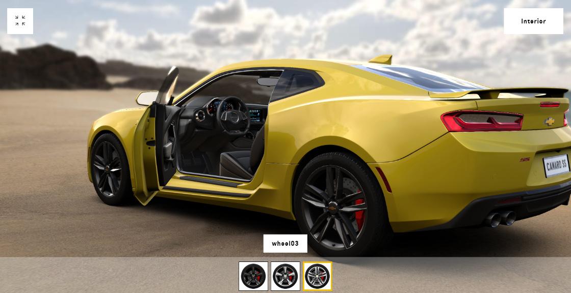 Chevrolet 3D Car Configurator   Blend4Web