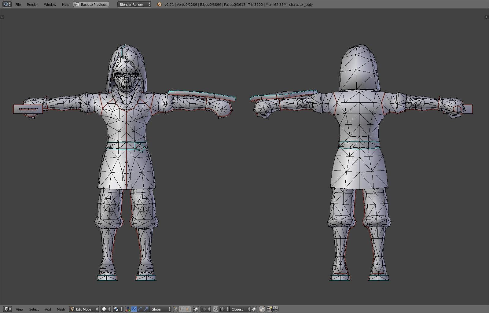Game Character Modeling In Blender : Making a game with blend web part animation and fx