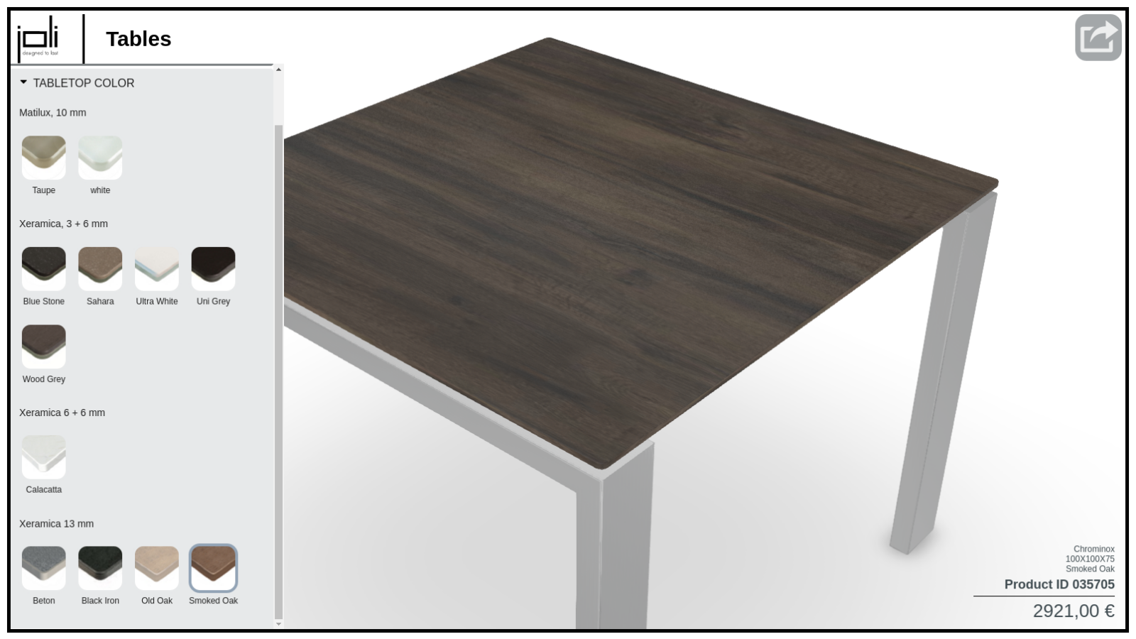 Joli Furniture Configurator preview