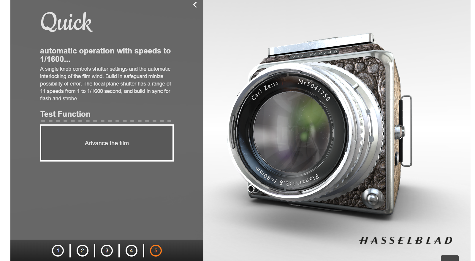 Hasselblad Camera 3D Presentation preview