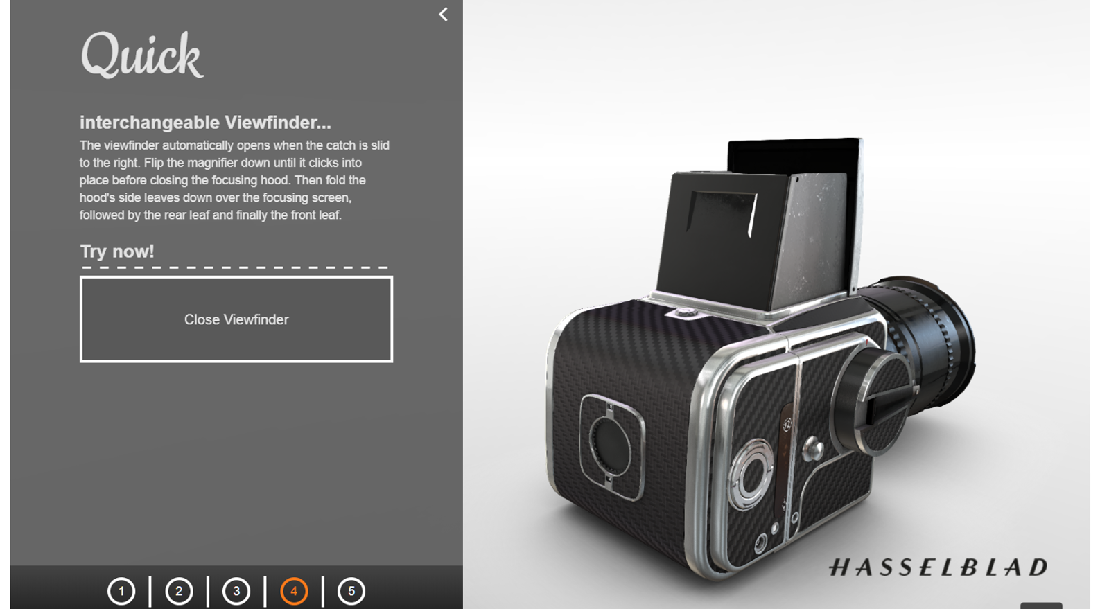 3D-презентация фотоаппарата Hasselblad preview